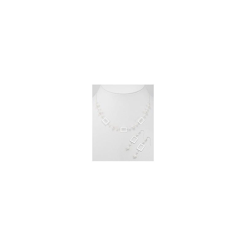 Parure de bijoux mariage perles originale