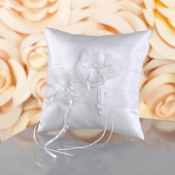 Coussin alliances satin perles cristal