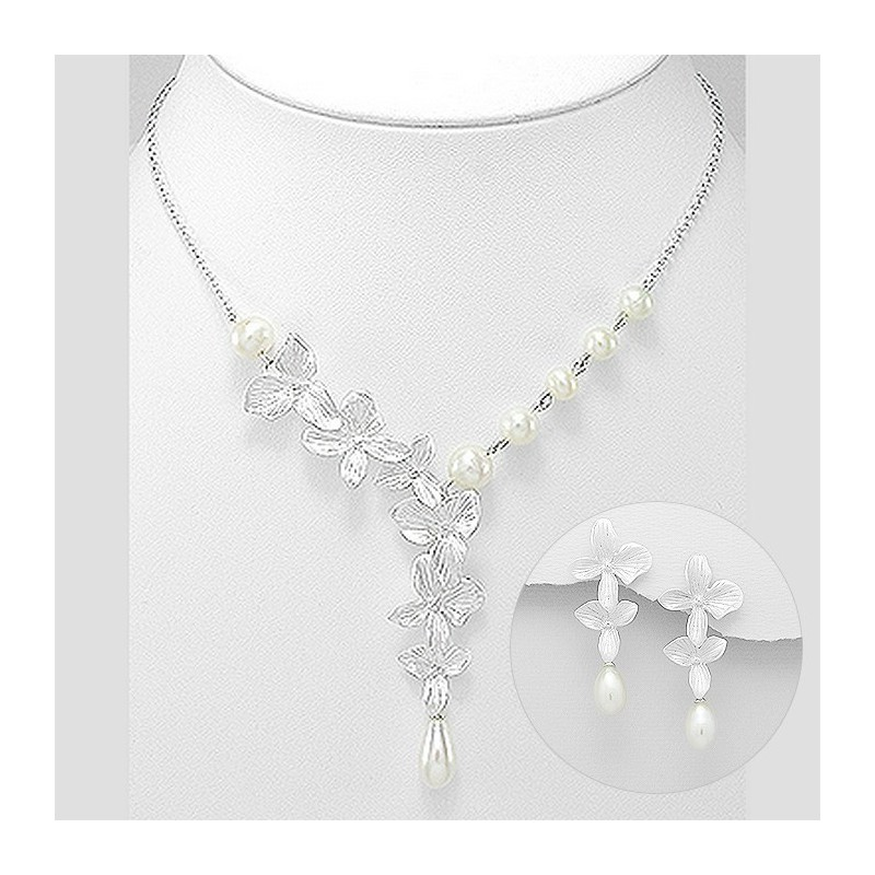 moda di lusso vendita calda online piuttosto bella Parure mariage argent et perles