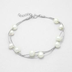 Parure bijoux double rang perles