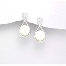 Parure mariage ovale perles et cristal