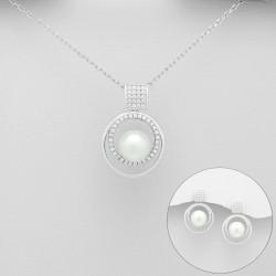 Parure mariage perles et cristal
