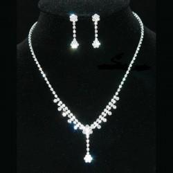 Parure de bijoux strass cristal