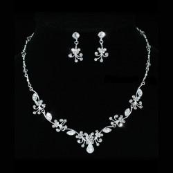 Parure bijoux mariage cristal style vintage