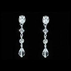Parure bijoux cristal collier et boucles d'oreilles