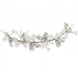 Vigne de cheveux mariée cristal et perles