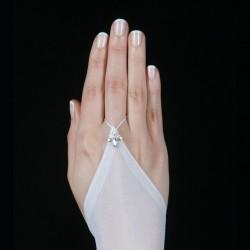 Gants longs mariage voile extensible cristal