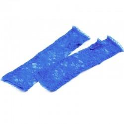 Longues mitaines dentelle bleue