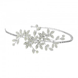 Headband mariage feuilles et perles