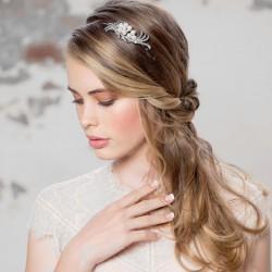 Diademe de mariage chic perles et cristal