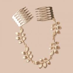 Accessoire coiffure métal doré