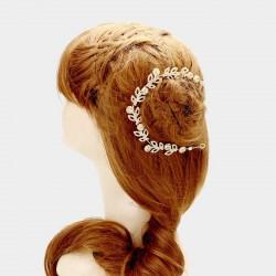 Vigne cheveux cristal doré