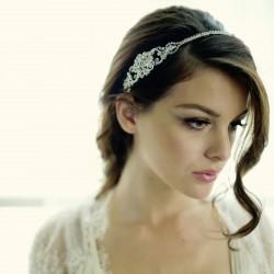 Headband mariee en cristal vintage
