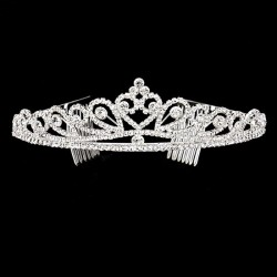Diademe style couronne cristal