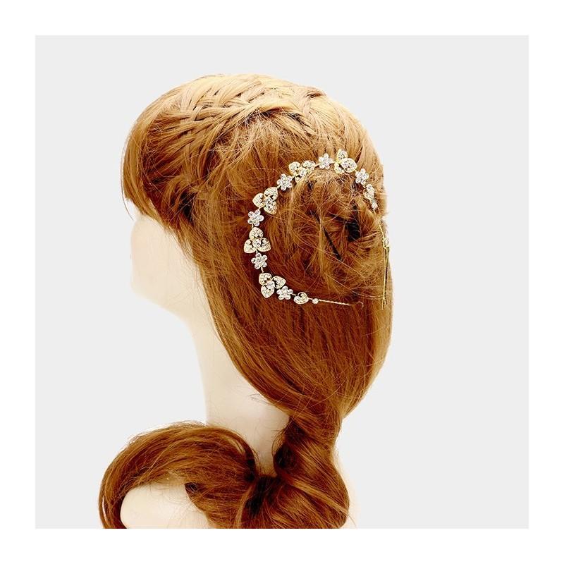 Vigne cheveux headband cristal doré