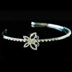 Diademe mariage papillon cristal