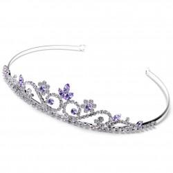 Couronne mariage cristal violet