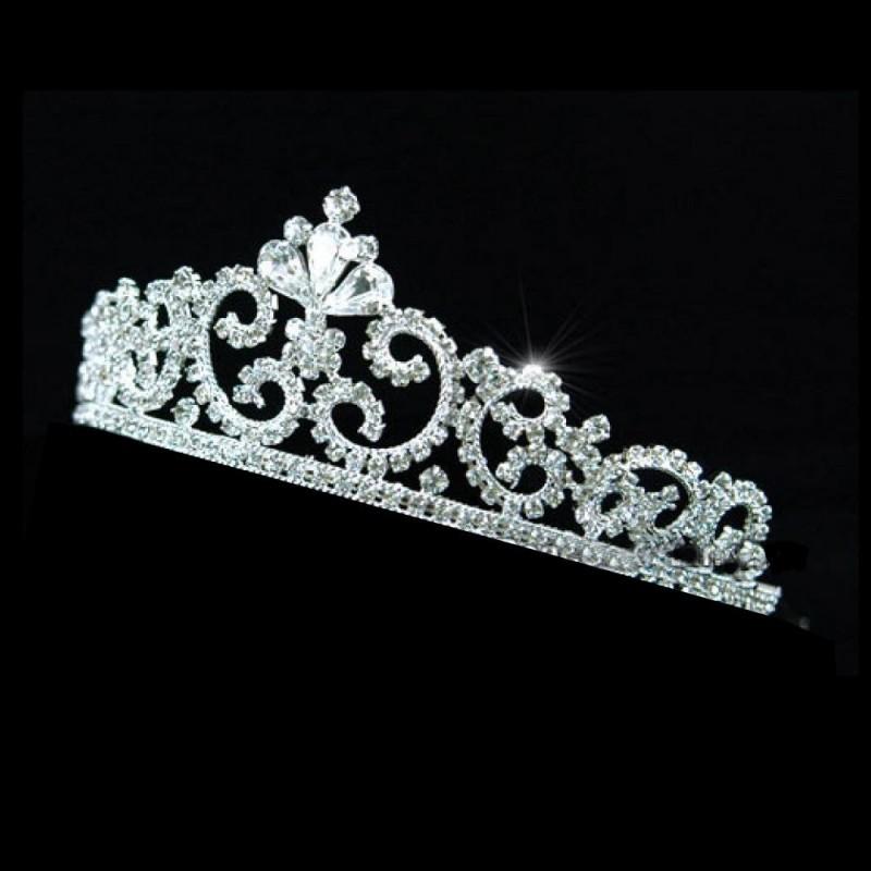 Diademe de mariee en cristal style couronne