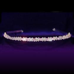 Headband mariage en cristal rose
