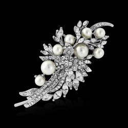 Accessoire coiffure cristal et perles