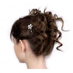 Barrette cheveux fleur cristal cristal