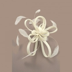 Chapeau mariage Bibi fascinateur ivoire pour cérémonie