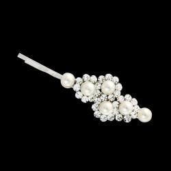 Epingle pour cheveux cristal et perles