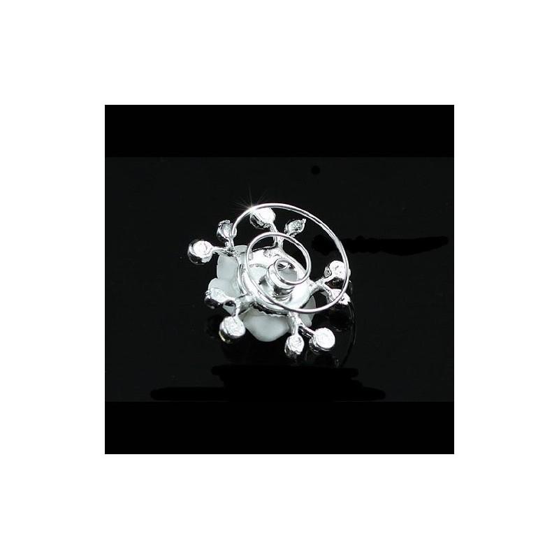 4 spirales mariage fleur ceramique cristal