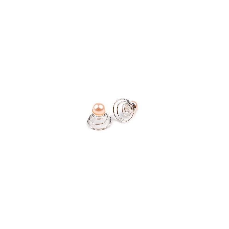 6 Spirales perle mandarine