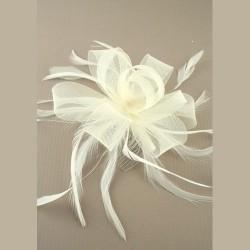 Chapeau mariage Accessoire de coiffure ivoire sur peigne