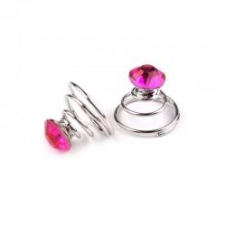 6 spirales cristal cristal rose fuchia