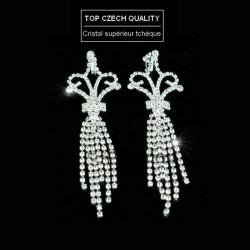 Longues boucles d oreilles chandelier cristal