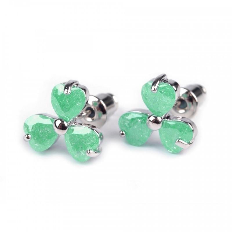 Boucles d oreilles en cristal vert