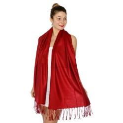 Foulard Etole pashmina rouge sombre