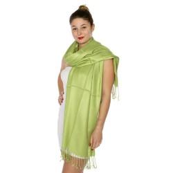 Foulard Etole pashmina vert anis
