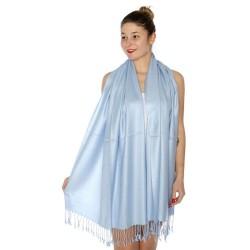 Foulard Etole pashmina bleu ciel