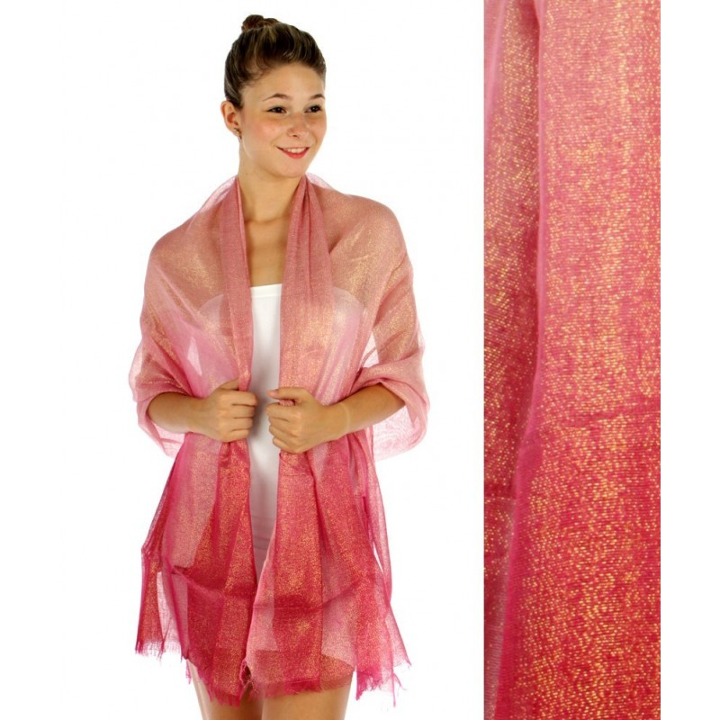 Foulard Etole dégradée rose