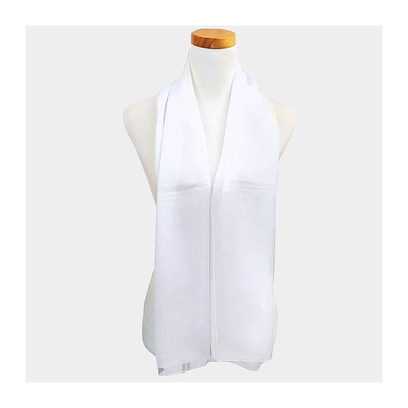 Foulard Etole en voile blanc