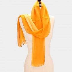 Foulard Etole en soie jaune
