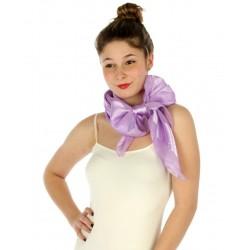 Foulard Etole en satin rayé parme violet