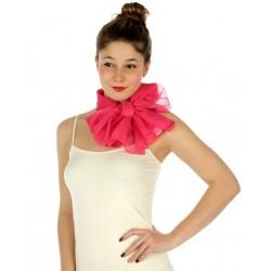 Foulard Etole voile léger rose fuchsia