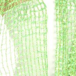 Foulard Etole en maille filet vert et lurex