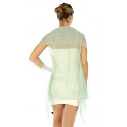 Foulard Gilet ou étole en voile vert clair