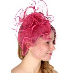 Bibi coiffure en sisal rose fuchsia