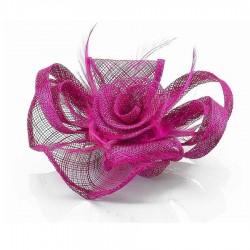 Chapeau mariage Bibi rose fuchsia violine