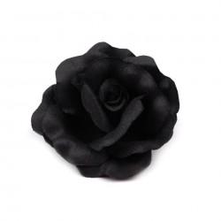 2 fleurs pour cheveux ou broche noire