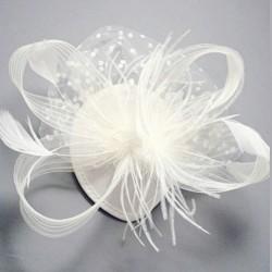 Chapeau mariage Chapeau de cérémonie ou mariage crème ivoire