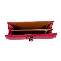 Pochette rose fuchsia porté main