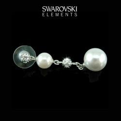 Boucles d oreilles mariage perles et cristal Swarovski
