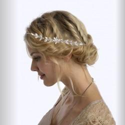 Vigne cheveux mariage cristal et perles